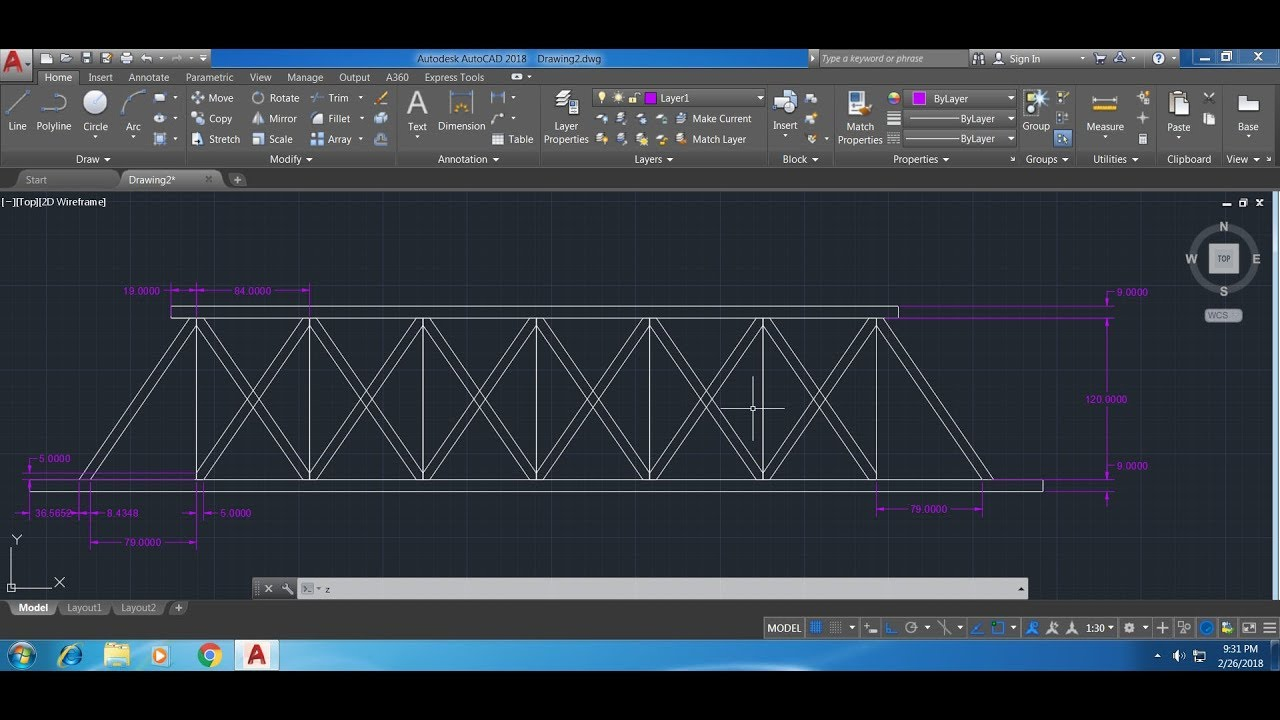 how to draw a bridge on autocad