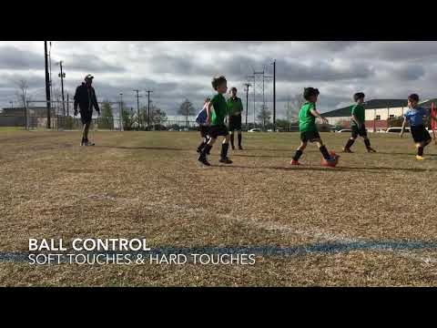 Ball control with soft touches