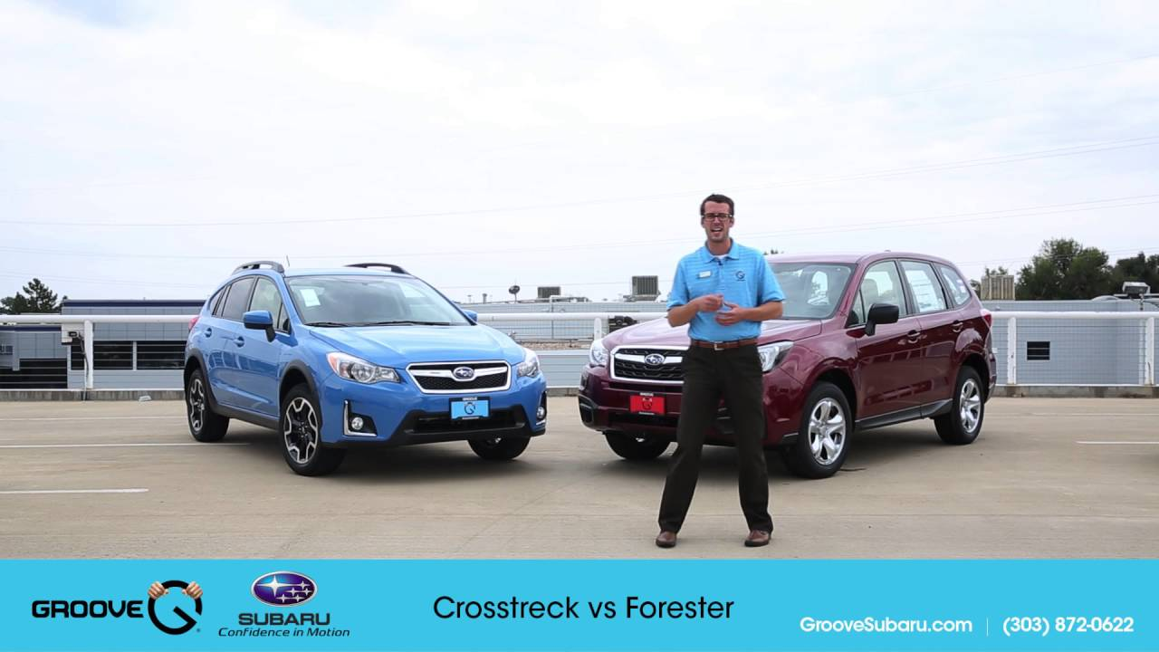 subaru crosstrek vs subaru forester whats the difference. Black Bedroom Furniture Sets. Home Design Ideas