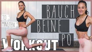 BAUCH BEINE PO WORKOUT für Zuhause 💪 HARDCORE HIIT