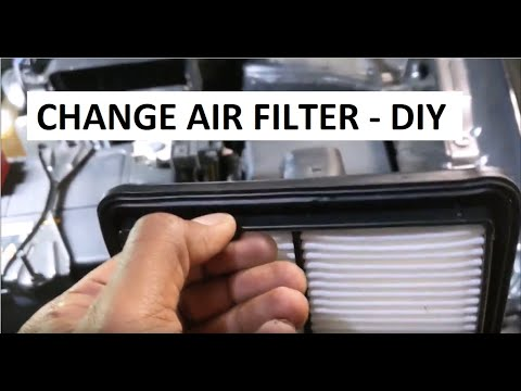 2014 – 2020 Nissan Rogue engine air filter replacement – DIY video