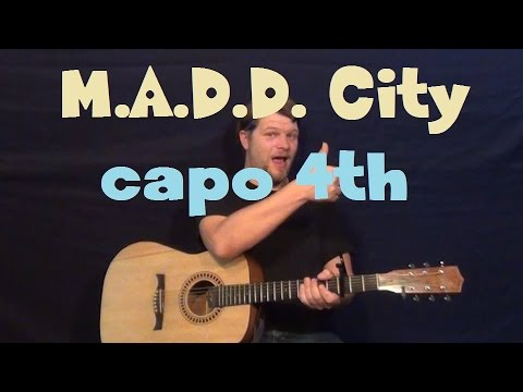 M.A.A.D. City (Kendrick Lamar) Easy Strum Guitar Lesson Capo 4th and ...