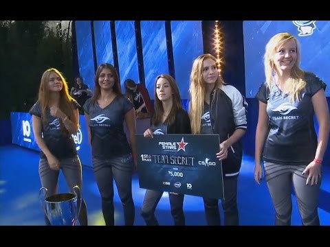 StarLadder Female Stars 2016. Team Secret Are The Champion! Winning Moment | Reason 2-nd. #CyberWins