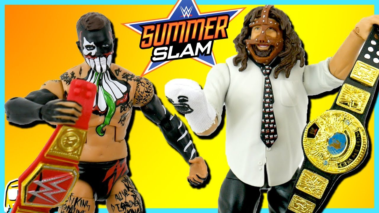 Finn Balor Mankind Wwe Summerslam 2017 Elite Toy Review Unboxing