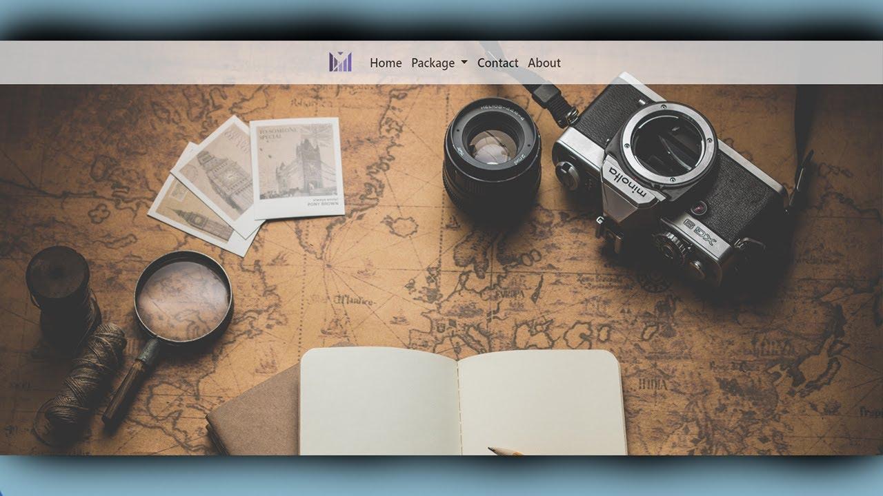 Travel Agent Website Design Using HTML & CSS | Dhiraj Ragsh