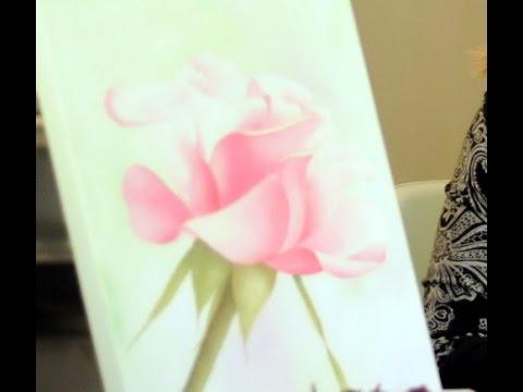 Pintar una Rosa con Oleos y Acrilicos - Mabel Blanco