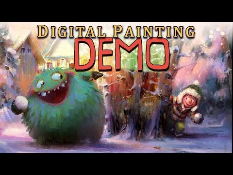Digital Painting and Illustration Demonstration - full concept