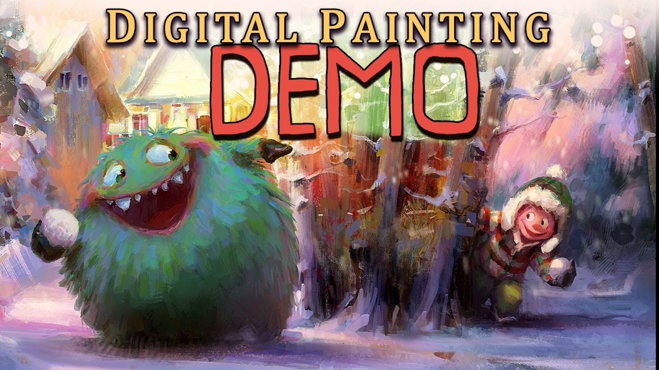 Digital Painting And Illustration Demonstration Full Concept