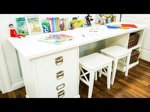 How To Dylan Neal S Diy Kids Desk For Two Hallmark Channel