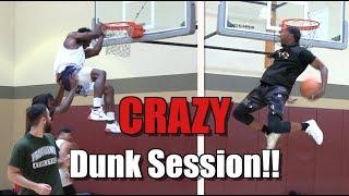"SICK Dunk Session on Low Rim!! Elijah Bonds Hits ""Kick-Up"" Dunk! Video"