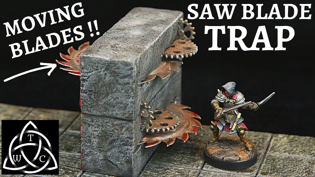 DIY Saw Blade Trap for Dungeons & Dragons