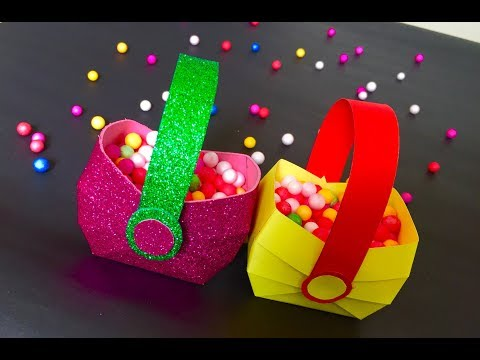 DIY : Paper basket making at home | arts and crafts ideas for kids - artsNcraft