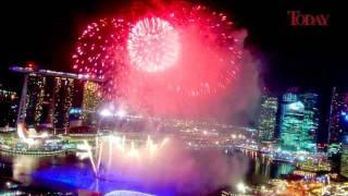Marina Bay 2011 New Year Fireworks