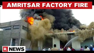 Punjab: Fire Breaks Out At A Dry Fruits Trading Factory In Amritsar