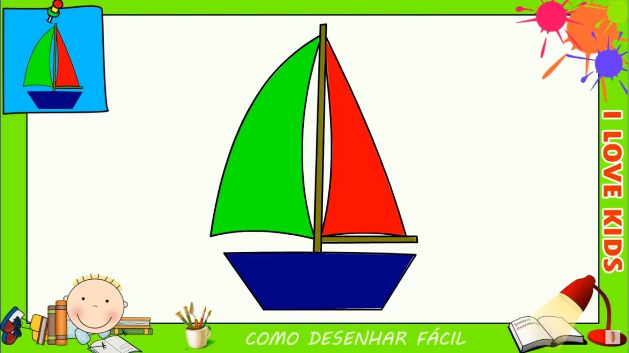 Como Desenhar Um Barco Facil Passo A Passo Para Criancas E