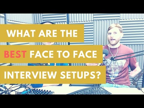 Best Face To Face Interview Equipment For Audio Or Podcasting?