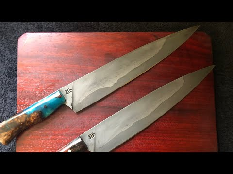 How I sharpen my knives. A word on sharpening on a 2x72