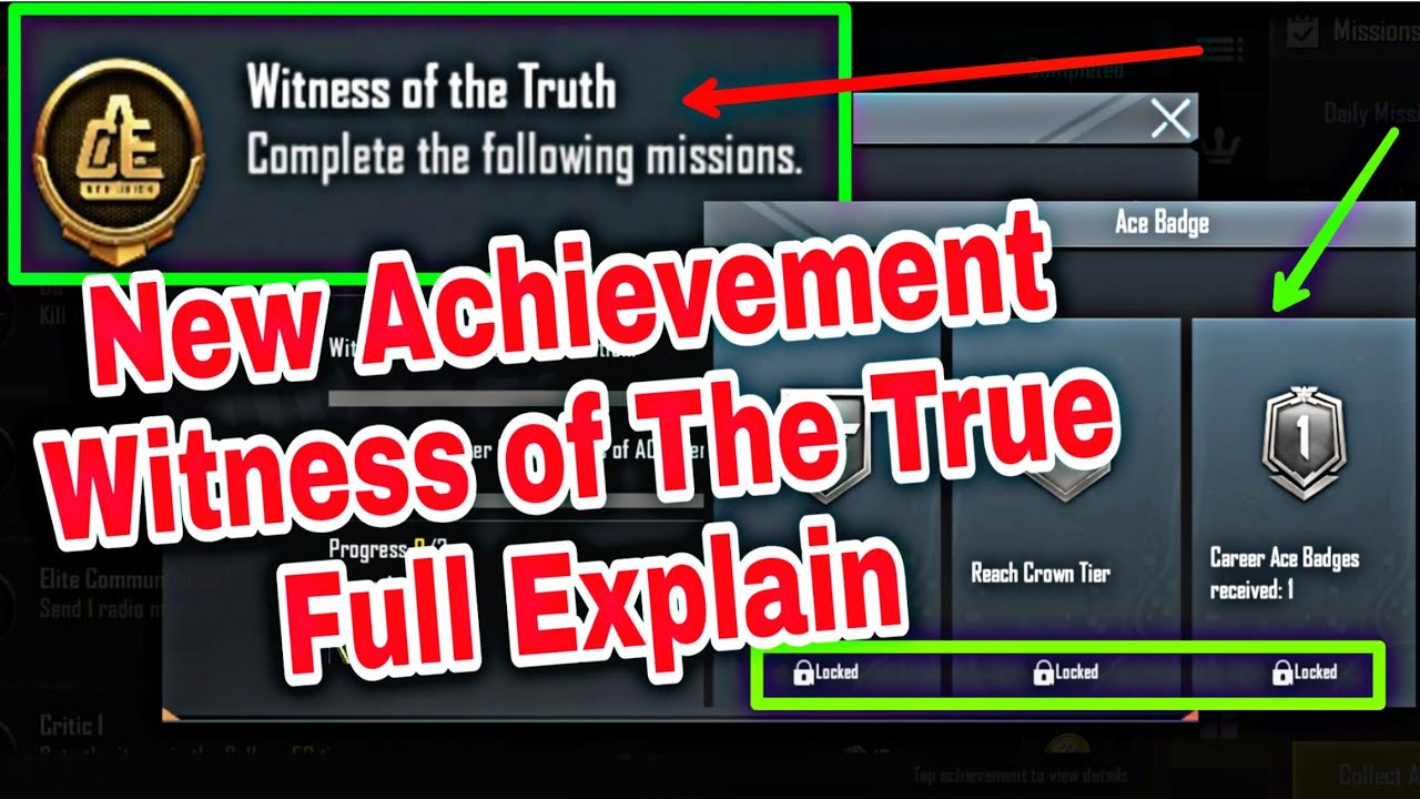 Download Witness Of The Truth Pubg Mobile New Achievement | How To Complete Witness Of The Truth Achievement