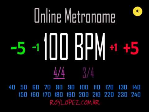 Metronomo Online - Online Metronome - 100 BPM 4/4
