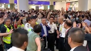 Hong Kong residents condemn illegal activities at airport