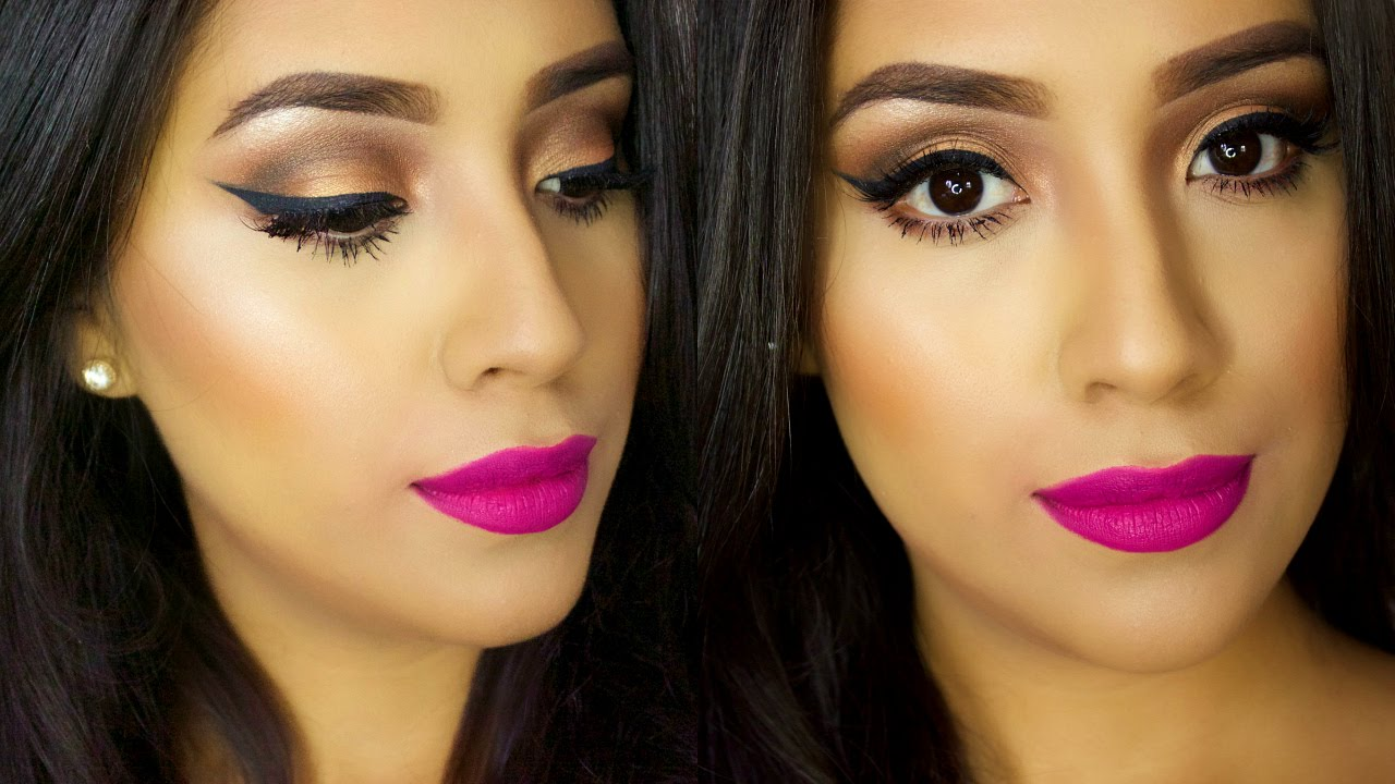 EASY Spring Makeup Tutorial 2015| BOLD PINK LIPS + Simple ...