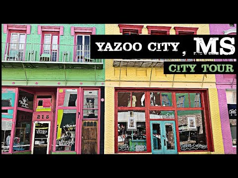 DRIVING THROUGH DOWNTOWN YAZOO CITY MISSISSIPPI