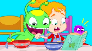 Groovy The Martian - Phoebe's not eating her healthy breakfast - Detective Books for kids