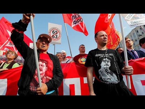 Milhares protestam em Moscovo contra reforma das pensões