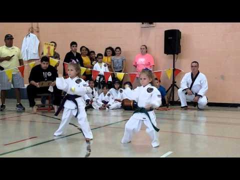 Twin Karate Girls  Musical Team Kata