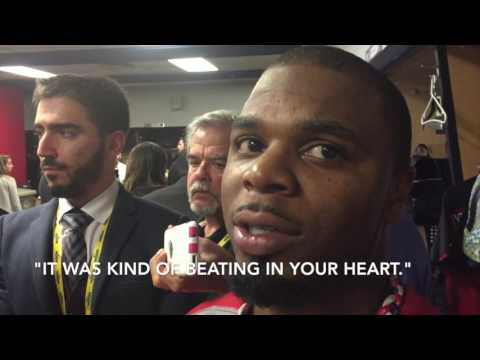 Cleveland Indians outfielder Rajai Davis on his game-tying homer in Game 7 of the World Series