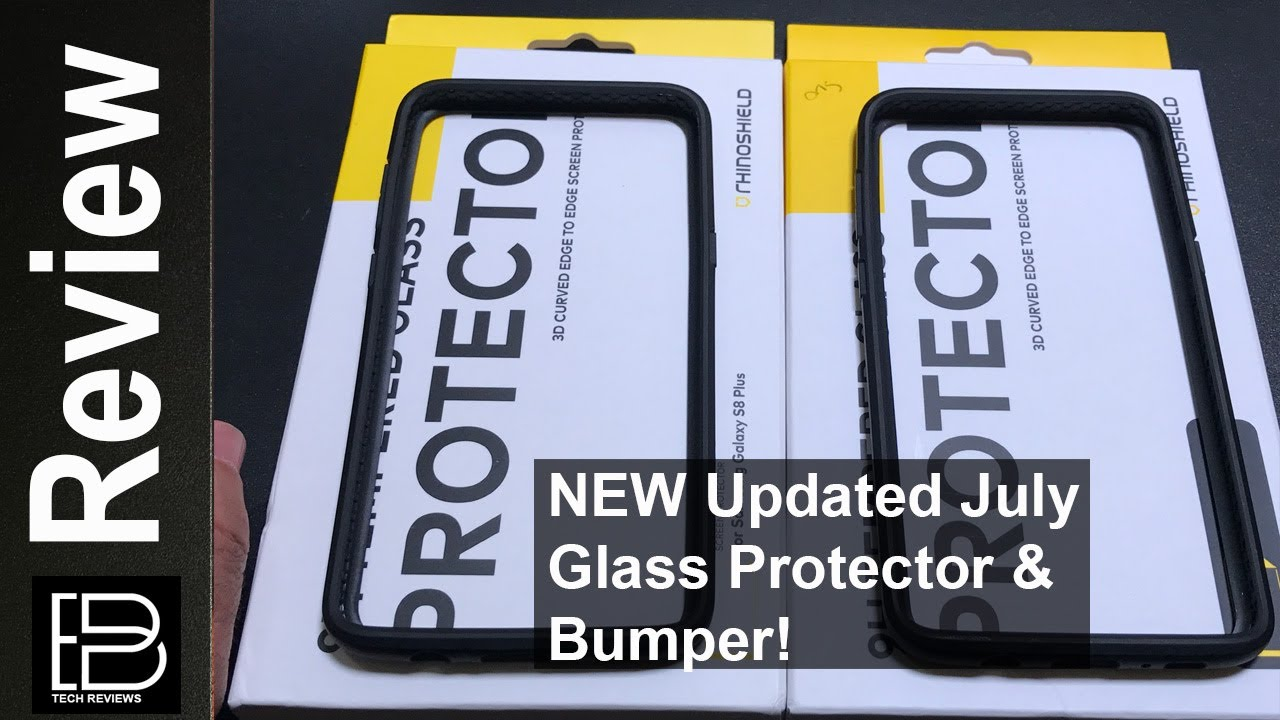 the latest 5ca4f 360ac NEW Updated RhinoShield Bumper and Case Friendly Screen Protector for the  S8 & S8 Plus