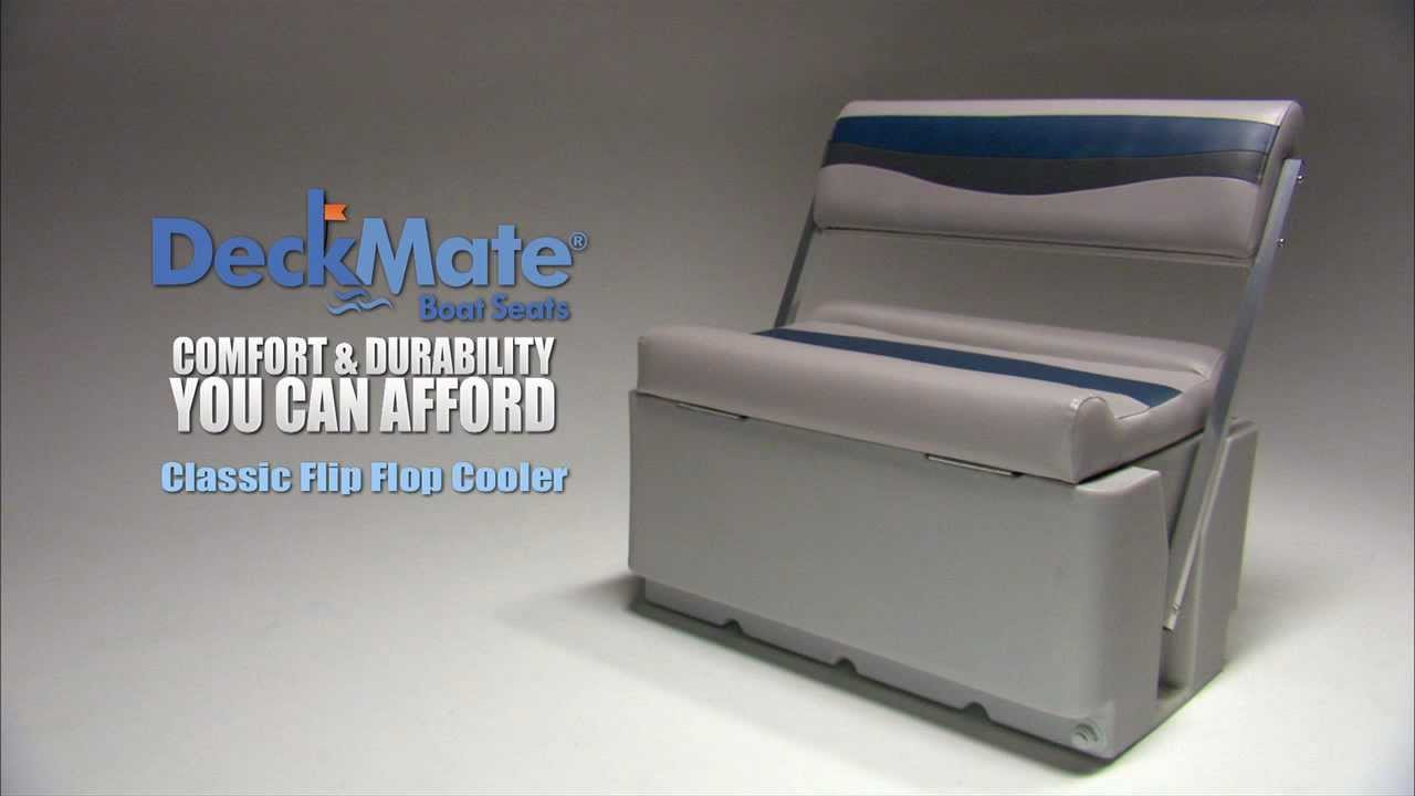 Deckmate Classic Pontoon Flip Flop Cooler Seats Youtube