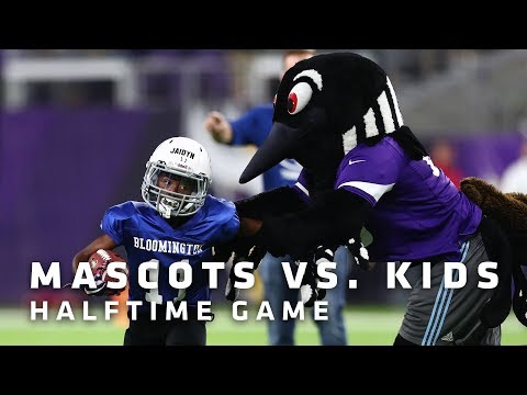 Mascots vs. Kids Halftime Game | Minnesota Vikings