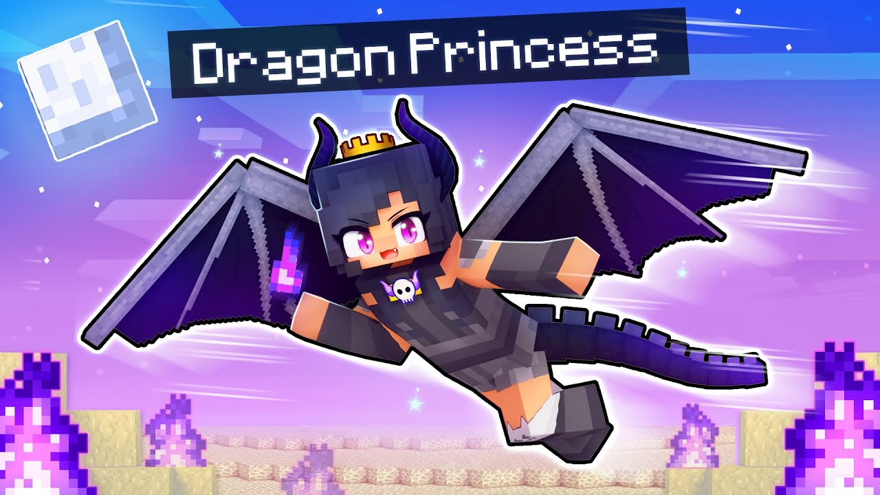 Playing Minecraft As The DRAGON Princess!