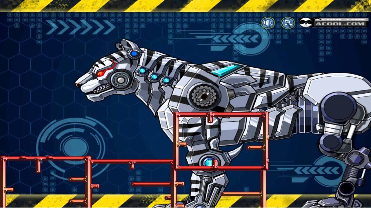ROBOT SNOW TIGER GAME GAMEPLAY HD Y8 GAMES
