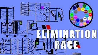 Amazing Elimination Marble Race With Colors in Algodoo \ Marble Race King