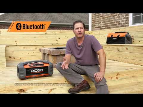 RIDGID 18V Bluetooth Radio
