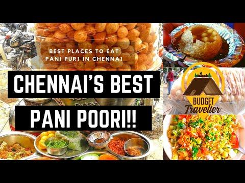 Best Places To Eat Pani Puri In Chennai | Best GolGappas Chat Shop - Chennai Street Food