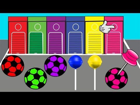 Learn Colors With Lollipop Video For Kids || Soccer Ball Colors || Cartoon For Children thumbnail