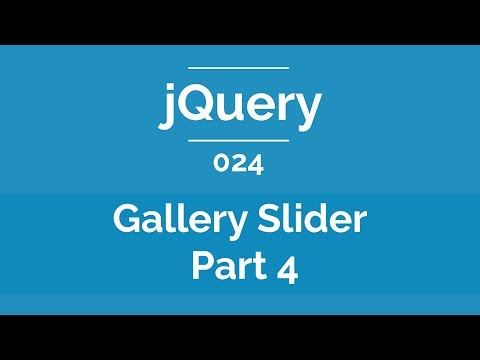 Arabic JQuery Practical Course #024 - Gallery Slider With Thumbnails Part 4