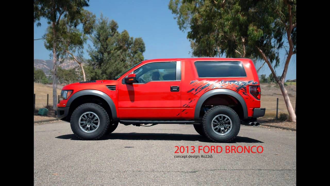 New Ford Bronco Raptor Concept Youtube