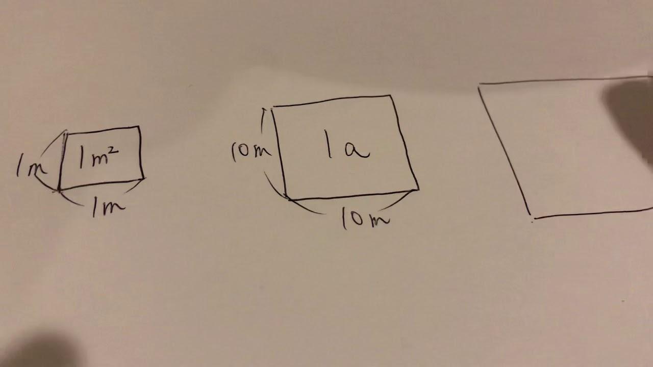 何 1 アール は ヘクタール 1aは何平方メートル?