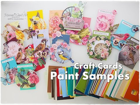 Paint Samples Diy Craft Cards Maremi S Small Art Youtube