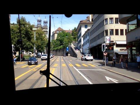 VBZ Zürich Tram | Linie 5: Bahnhof Enge - Zoo (Gleisbau Central) | Bombardier Be 5/6 'Cobra'