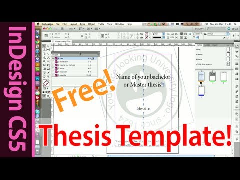 Indesign Template for your Master, Bachelor or Honors Thesis (Part 16)