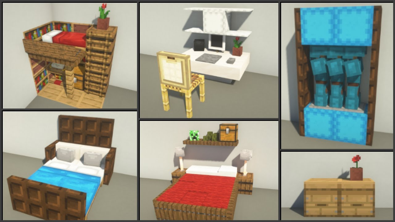 Minecraft 30 Bedroom Design Ideas Youtube
