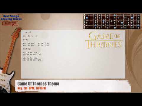 Game Of Thrones Melody Guitar Backing Track With Chords Youtube