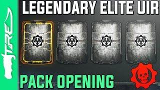 LEGENDARY UIR ELITE! - Gears of War 4 Gear Packs Opening - 10 UIR GEAR PACKS (Gears of War 4 UIR)