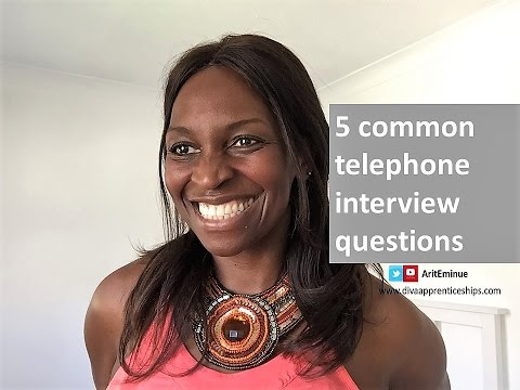 5 phone interview questions and answers - YouTube
