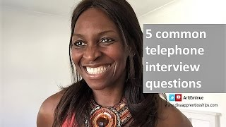 5 phone interview questions and answers